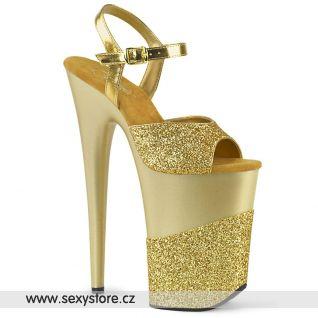 Zlaté boty s extrémním podpatkem INF909-2G/GG/M