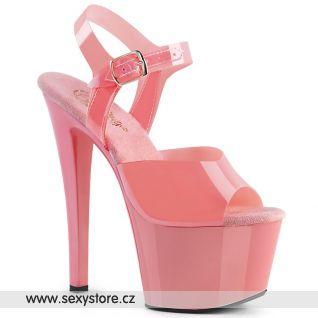 SKY308N/BPTPU/M Růžové sexy boty