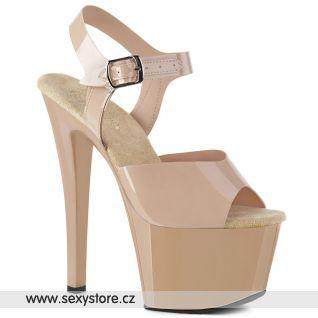 SKY308N/CRTPU/M Tělové taneční boty na vysokém podpatku a platformě