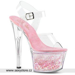 SKY-308WHG Růžové dámské sandálky SKY308WHG/C/C-BPGG