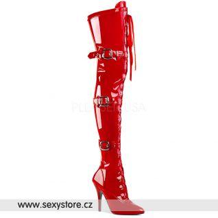 Červené sexy kozačky SEDUCE-3028 SED3028/R