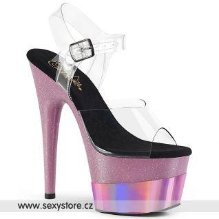 ADORE-708-2HGM ADO708-2HGM/C/BPGHG Růžové sandály na vysoké platformě a podpatku
