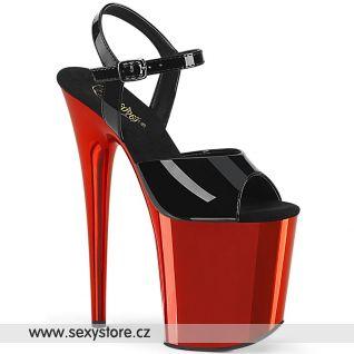 Sexy taneční sandály FLAM809/B/RCH
