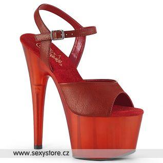 ADORE-709T Červené taneční sandály na podpatku ADO709T/RPU/M