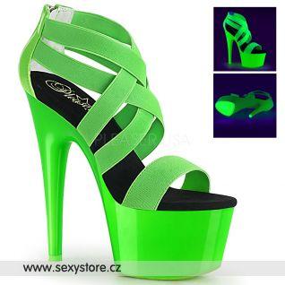 Zelené svítící sexy boty ADORE-769UV ADO769UV/NGNELS-PT/M