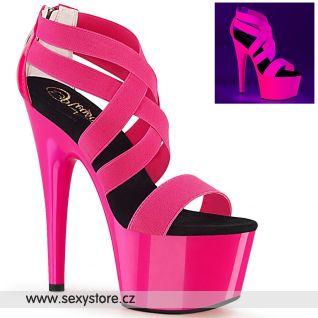 Růžové svítící sexy boty ADORE-769UV ADO769UV/NHPELS-PT/M