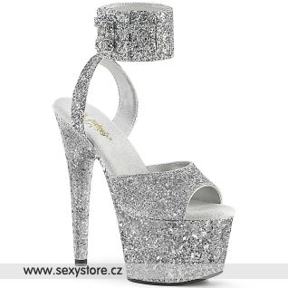 Stříbrné go-go sandály ADO791LG/SG/M