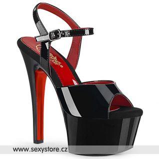 Eroticky laděné sexy sexy sandály ASP609TT/B/B-RCH