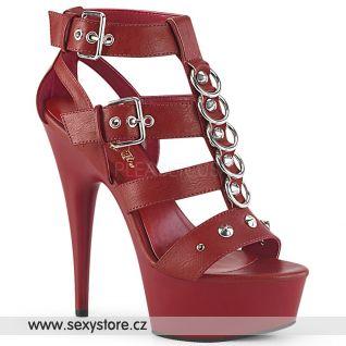 DELIGHT-658 Červené sexy boty DEL658/RPU/M