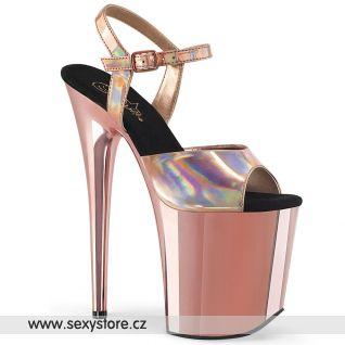FLAMINGO-809HG Zlato růžové lesklé boty FLAM809HG/ROHG/ROGCH