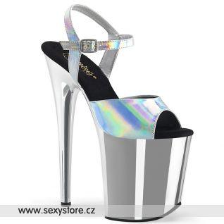 Stříbrné lesklé boty FLAM809HG/SHG/SCH