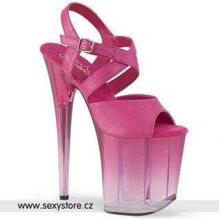 Růžové sexy taneční boty na extrémním podpatku FLAM822T/FSPU/M