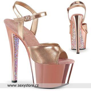 Růžové sexy boty na vysokém podpatku SKY309TTG/RGMPU/RGCH