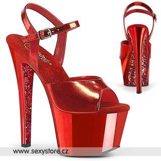 Červené sexy boty na vysokém podpatku SKY309TTG/RMPU/RCH