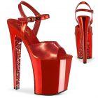 XTREME-809TTG Luxusní červené boty na extrémním podpatku XTM809TTG/RMPU/RCH