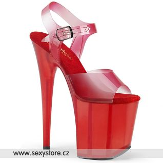 Červené sexy boty FLAM808N-T/RTPU/RT