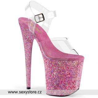 Extrémní podpatek růžové taneční boty FLAM808CF/C/PN