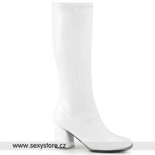 Bílé matné kozačky GOGO300-2/WPU