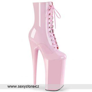 BEYOND-1020 Extrémně vysoké růžové kotníčkové boty BEY1020/BP/M