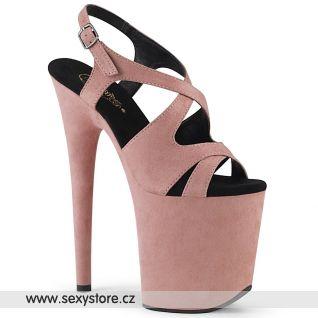 Světle růžové boty na extra vysokém podpatku FLAMINGO-831FS FLAM831FS/BPFS/M