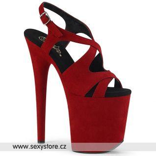 Rudé taneční boty na extra vysokém podpatku FLAMINGO-831FS FLAM831FS/RFS/M