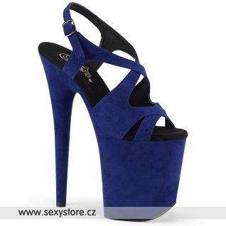 Tmavě modré taneční boty na extra vysokém podpatku FLAM831FS/RYBLUFS/M