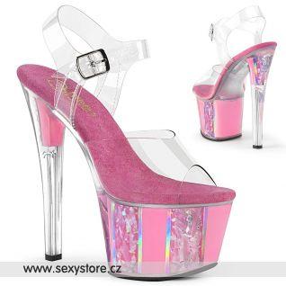 Růžové sexy boty SKY308OF/C/BP