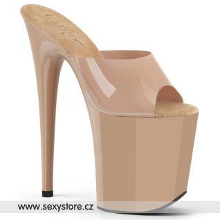 FLAMINGO-801N Tělové taneční pantofle na extra vysokém podpatku FLAM801N/CRTPU/M