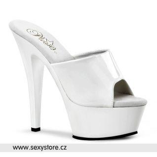 bílé sexy boty na podpatku KISS-201