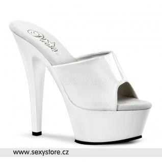 bílé sexy boty na podpatku KISS-201 skladem