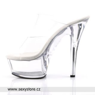 Průhledné sexy boty s platformou KISS-202/C/M