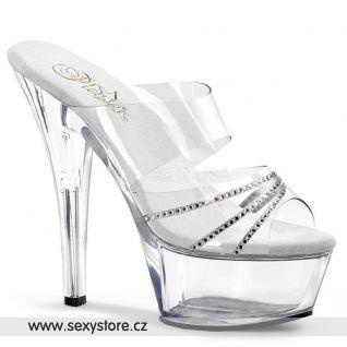 Svůdné průhledné sexy boty KISS-202R/C/RS