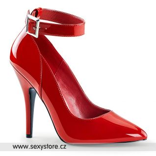 Červené lodičky s páskem SEDUCE-431/R