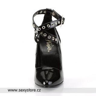 Černé lodičky s pásky SEDUCE-443/B