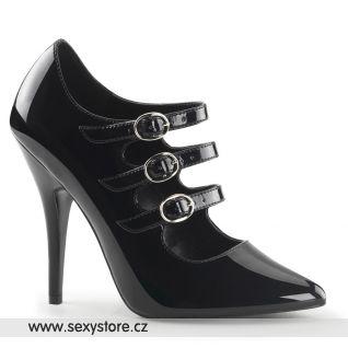 Černé retro lodičky SEDUCE-453/B