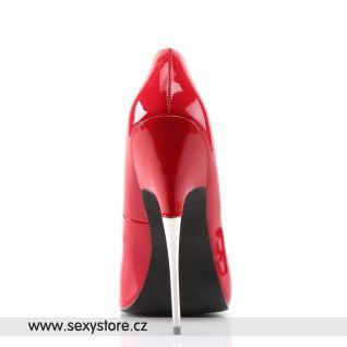 SCREAM-01/R Fetiš červené erotické lodičky na extrémním kovovém podpatku