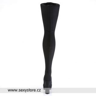 ELECTRA-3000/B/LYR vysoké černé kozačky