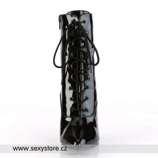 Černé kotníčkové kozačky VANITY-1020/B