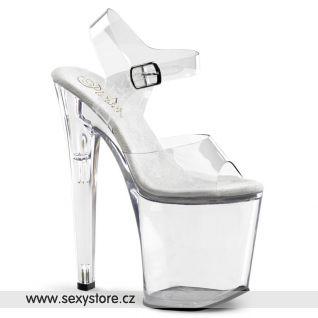 XTREME-808/C/M Průhledné sexy boty na extrémní platformě