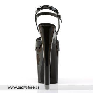 XTREME-809/B/M Černé sexy boty na extrémním podpatku a platformě