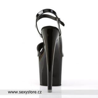 TABOO-714/B/M Sexy černé boty na podpatku a vysoké platformě