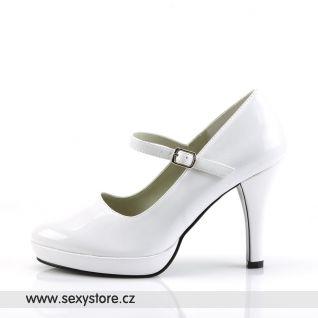 Bílé lodičky CONTESSA-50/W