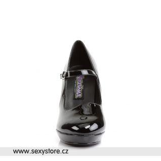 Černé lodičky CONTESSA-50X/B pro širší chodidlo