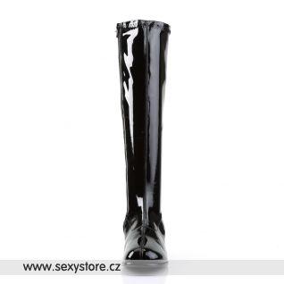 Černé lakované kozačky RETRO-300/B