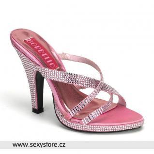 růžové sexy pantofle SIREN-02R/BP