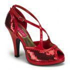 červené sexy retro lodičky SIREN-07SQ