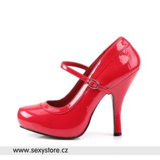 červené lodičky PRETTY-50/R