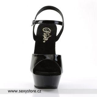 Černá erotická obuv DIAMOND-609/B/M