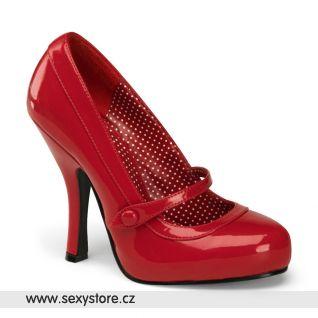 červené retro lodičky CUTIEPIE-02/RPT