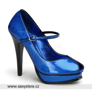 modré sexy lodičky na podpatku PLEASURE-02G/BLPGPT